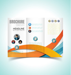 brochure design template10 vector image