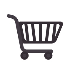 Cart supermarket shopping icon vector
