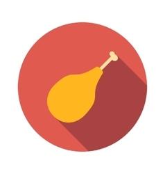 Chicken legs flat icon vector