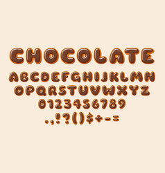 chocolate abc bakery letters alphabet letter vector image