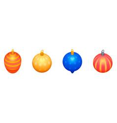 christmas tree toys icons set isometric style vector image