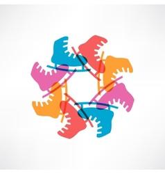 Circle of colored skates vector image