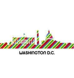 Cityscape of washington dc vector