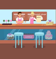 cookies menu sweet shop advertising flat banner vector image