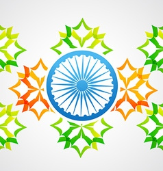 creative indian flag vector image