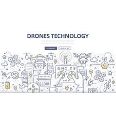 Drones Technology Doodle Concept vector