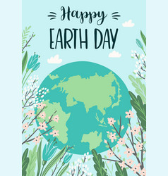 earth day save nature design template vector image