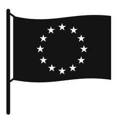 european flag icon simple style vector image