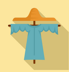 Farm scarecrow icon flat style vector