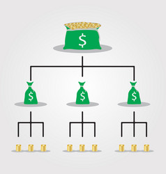 Financial pyramid scheme network marketing vector