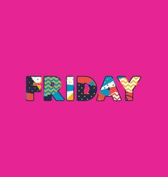 Friday concept word art vector