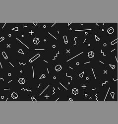 geometric memphis pattern seamless graphic vector image