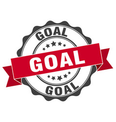 Goal stamp sign seal vector