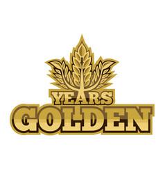 Golden years vector