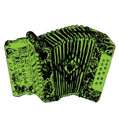 grunge retro accordion vector image