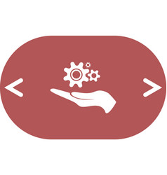 Hand and mechanism icon vector