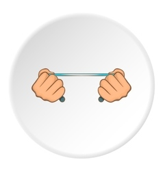 Hands stretch expander icon cartoon style vector image