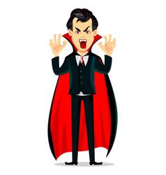 Happy halloween vampire cartoon character vector