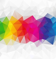 Horizontal strip rainbow spectrum polygon vector