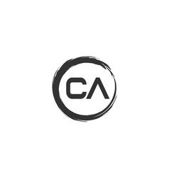 Initial letter ca logo template design vector