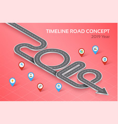 isometric navigation map infographic timeline vector image