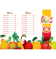 juice and fresh vector image vector image