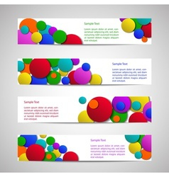 Leaflets with colored circles vector