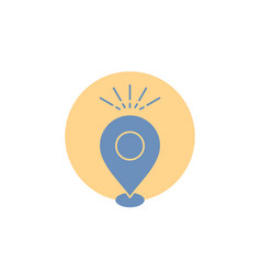 Location pin camping holiday map glyph icon vector