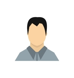 Man in gray shirt icon flat style vector image