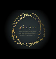 minimalist golden floral flyer vector image