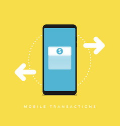 Mobile transactions vector