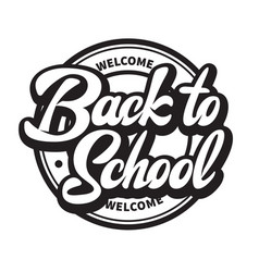 monochrome with lettering vector image