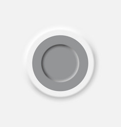 neomorphic style interface button design element vector image