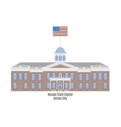 nevada state capitol vector image