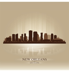 New Orleans Louisiana skyline city silhouette vector image