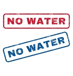 No Water Rubber Stamps vector image
