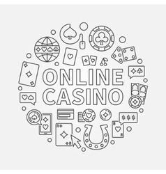 Online casino line vector