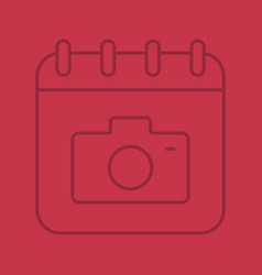 photographers day color linear icon vector image