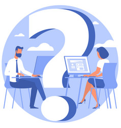 question mark looking for solution vector image