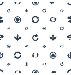 Reload icons pattern seamless white background vector