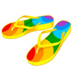 rubber colorful flip flops vector image