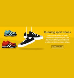 Running sport shoes banner horizontal concept vector