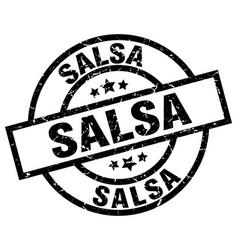Salsa round grunge black stamp vector