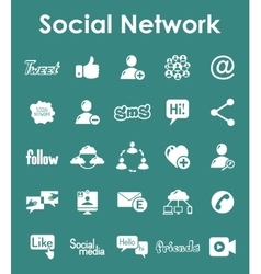 Set of social network simple icons vector image