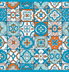 Spanish tiles pattern vector