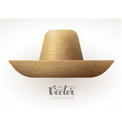 Straw hat isolated on white background vector