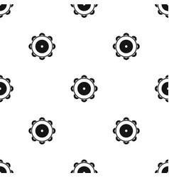 Tambourine pattern seamless black vector