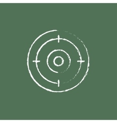 Target board icon drawn in chalk vector image