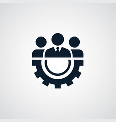 teamwork icon simple sign vector image