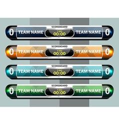Template scoreboard sports vector